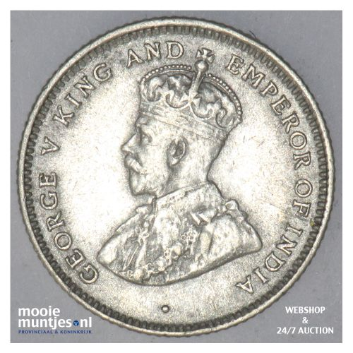 25 cents -   - Ceylon 1925 (KM 105a) (kant B)