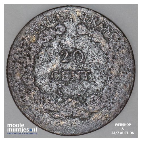 20 cents - French Indo-China 1927 A (KM 17.1) (kant B)
