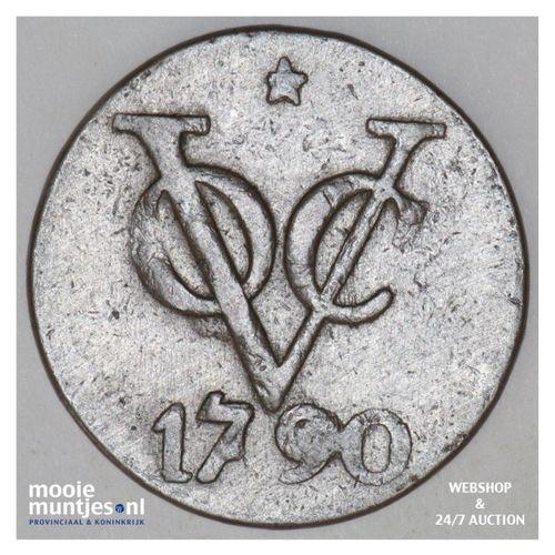 Nederlands-Indië - Dubbele duit - 1790 (kant A)