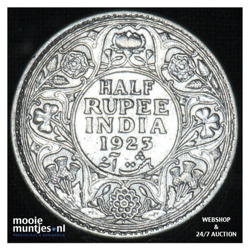 1/2 rupee -  - India-British 19423 (c)  (KM 522) (kant A)