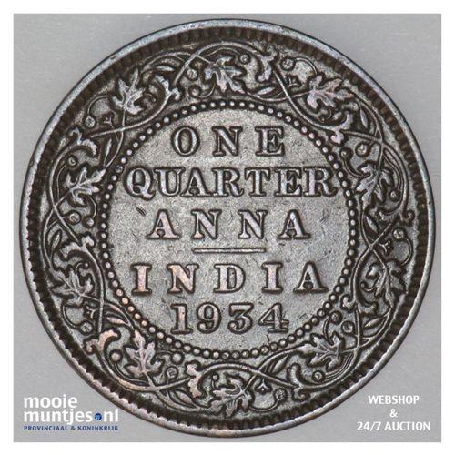 1/4 anna -  - India-British 1934 (c) (KM 512) (kant A)