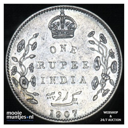 rupee -  - India-British 1907 (c) (KM 508) (kant A)