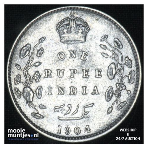 rupee -  - India-British 1904 (c) (KM 508) (kant A)