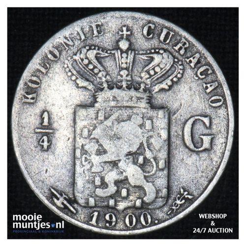 Curaçao - 1/4 gulden - 1900 (kant A)