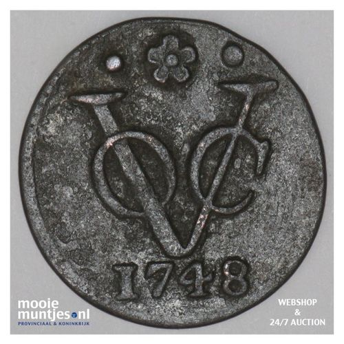 VOC duit - Holland - - Netherlands East Indies 1748 (KM 70) (kant A)