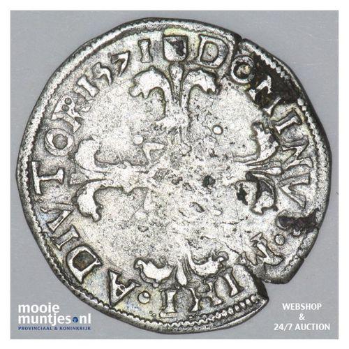 Utrecht - Twintigste Philipsdaalder - 1571 (kant A)