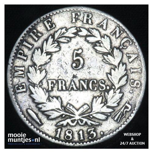 5 francs - Keizer Napoleon I - 1813 (kant A)