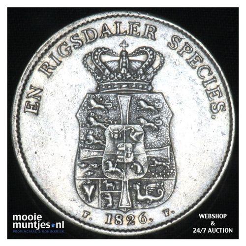 speciedaler - Denmark 1826 FF (KM 695.1) (kant A)