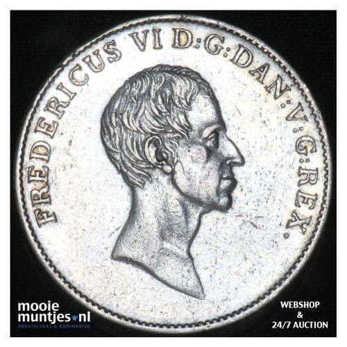 speciedaler - Denmark 1826 FF (KM 695.1) (kant B)