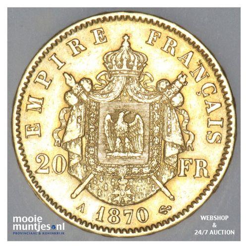 20 francs - France 1870 A (KM 801.1) (kant A)