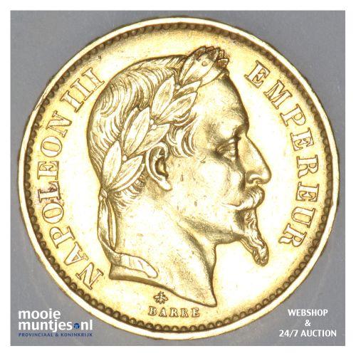 20 francs - France 1870 A (KM 801.1) (kant B)