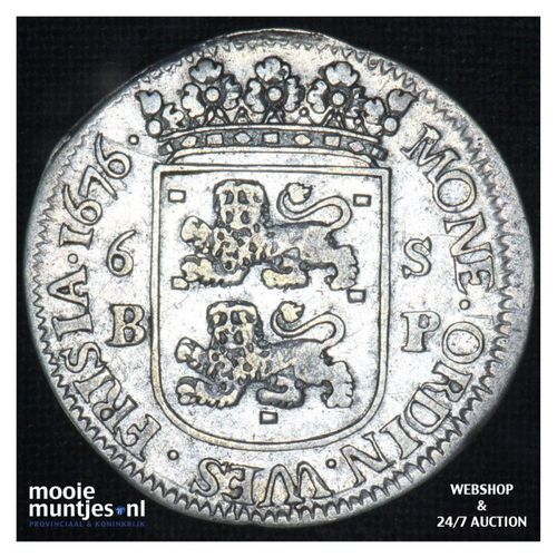 Geoc. Munt van Enkhuizen - Scheepjesschelling - 1676 BP (kant A)