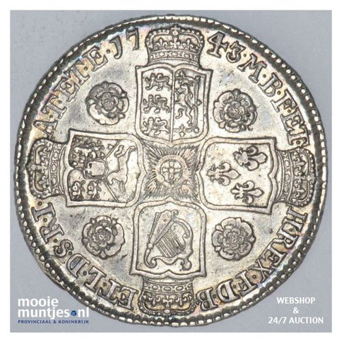 1/2 crown - Great Britain 1743 (KM 584.1) (kant A)