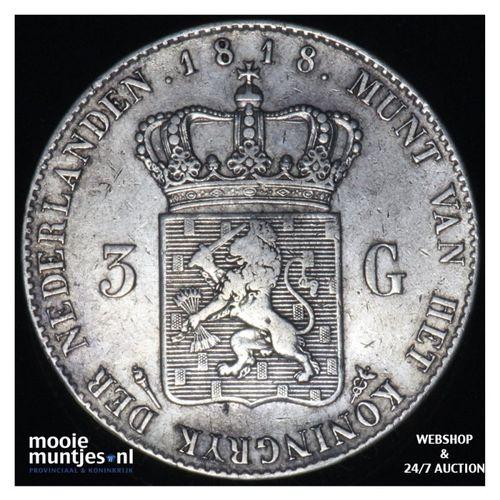3 gulden - Willem I - 1818 (kant A)