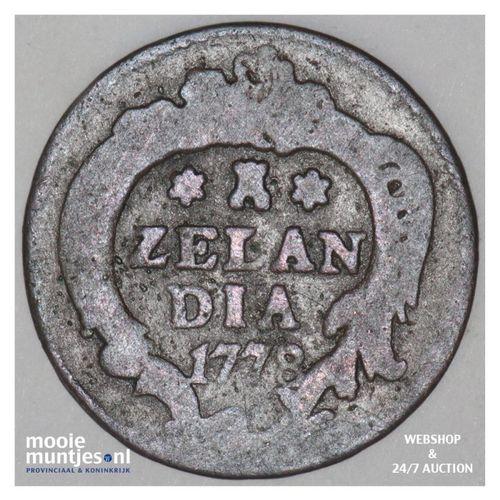 Zeeland - Duit - 1778 (kant A)
