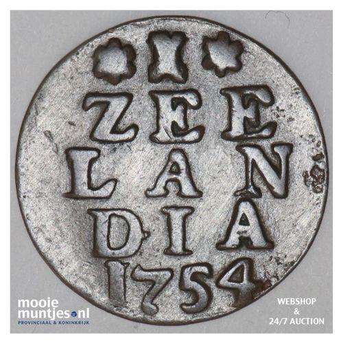 Zeeland - Duit - 1754 ementor (kant A)