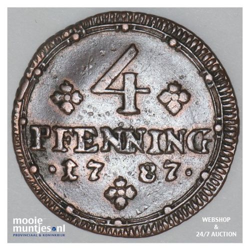 4 pfennig - (cathedral chapter) - German States/Munster 1787 (KM 446) (kant A)