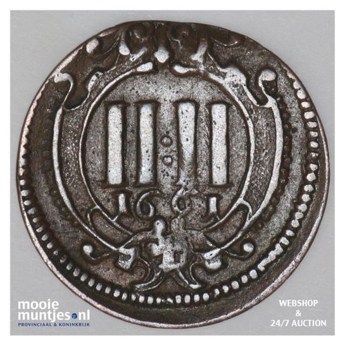 4 pfennig - cathedral chapter -  - German States/Munster 1661 (KM 419) (kant A)