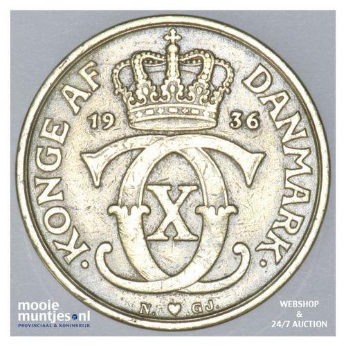 krone - Denmark 1936 (KM 824.2) (kant A)