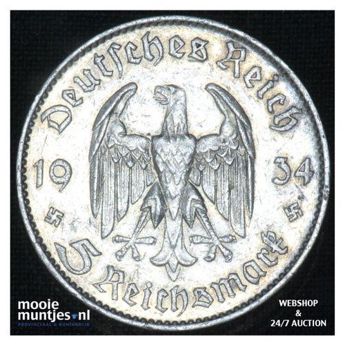 2 reichsmark - Third Reich 1934 F (KM 93) (kant A)
