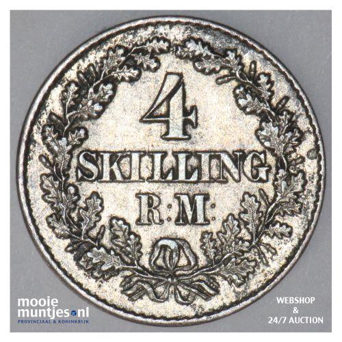 4 skilling rigsmont - Denmark 1856 VS (KM 758.2) (kant B)
