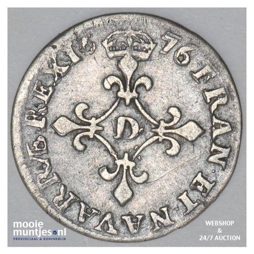 4 sols - France 1676 D (Lyon) (KM 232.2) (kant A)