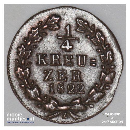 1/4 kreuzer - united Nassau -  - German States/Nassau 1822 (KM 42) (kant A)