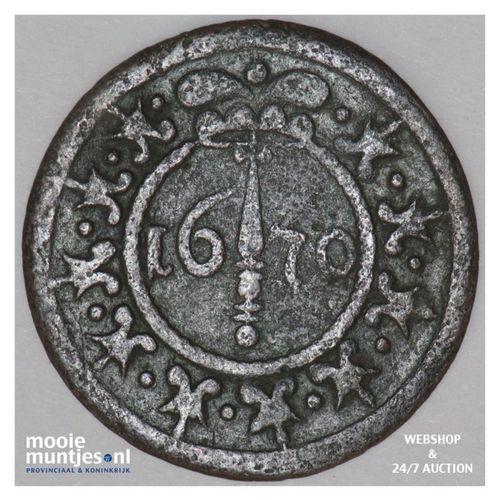 12 pfennig - regular coinage - - German States/Herford 1670 (KM 18) (kant A)