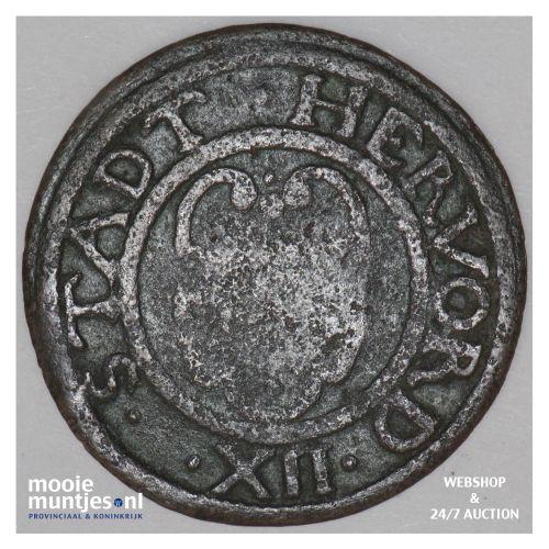 12 pfennig - regular coinage - - German States/Herford 1670 (KM 18) (kant B)