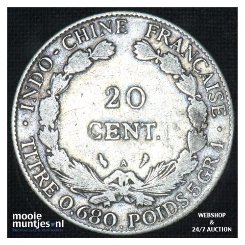 20 cents - French Indo-China 1924 (KM 17.1) (kant B)