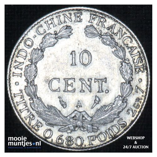 10 cents - French Indo-China 1925 (KM 16.1) (kant B)