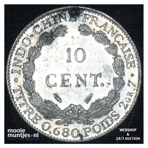 10 cents - French Indo-China 1937 (KM 16.2) (kant B)