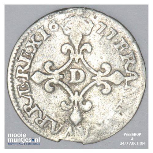 4 sols - France 1677 D (KM 232.2) (kant A)
