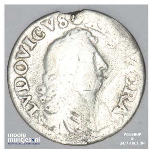 4 sols - France 1677 D (KM 232.2) (kant B)