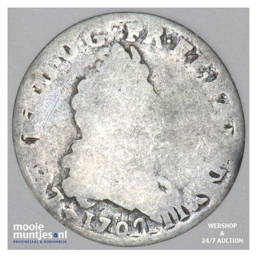 5 sols (1/16 ecu) - France 1703 BB (Strassbourg) (KM 337.4) (kant A)