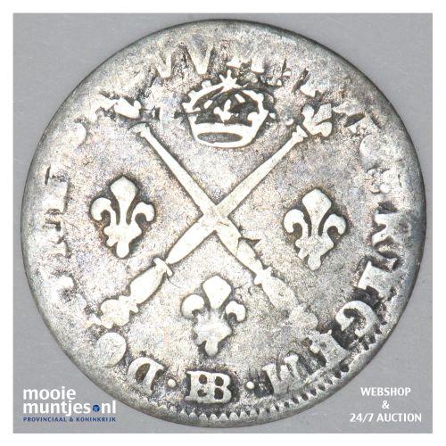 5 sols (1/16 ecu) - France 1703 BB (Strassbourg) (KM 337.4) (kant B)