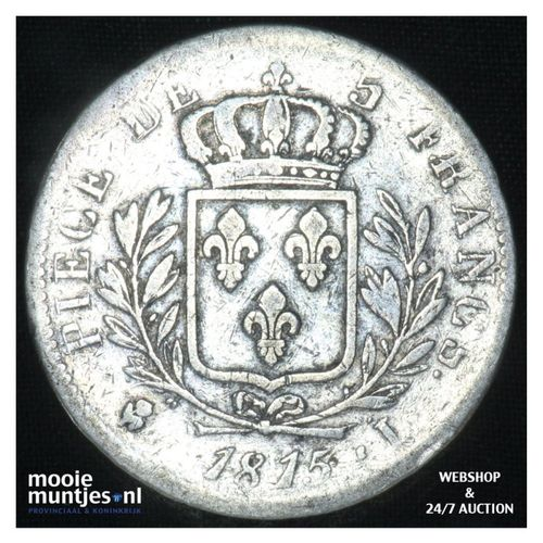 5 francs - France 1815 L (Bayonne) (KM 702.8) (kant A)