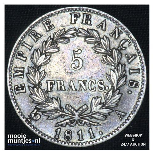 5 francs - France 1811 A (Paris) (KM 694.1) (kant A)