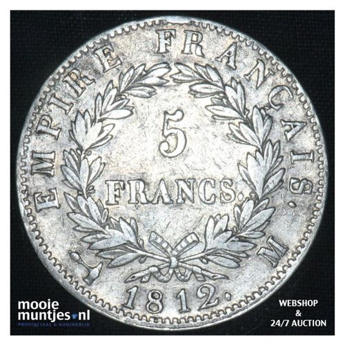 5 francs - France 1812 M (Toulouse) (KM 694.10) (kant A)
