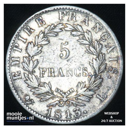 5 francs - France 1813 L (Bayonne) (KM 694.9) (kant A)