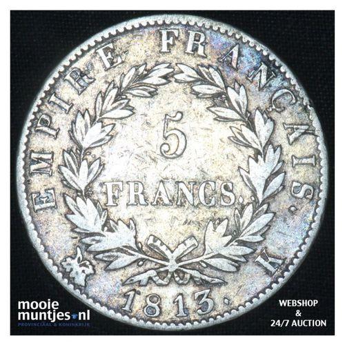5 francs - France 1813 K (Bourdeaux) (KM 694.8) (kant A)