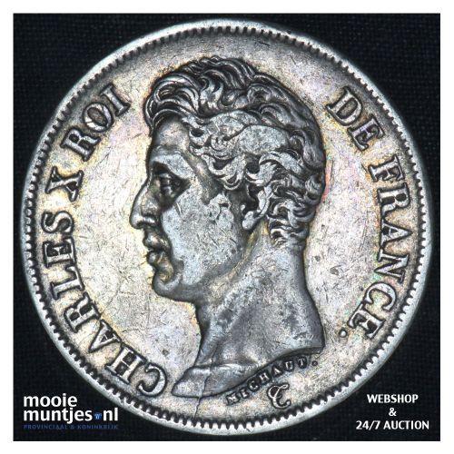 5 francs - France 1826 D (Lyon) (KM 720.8) (kant B)