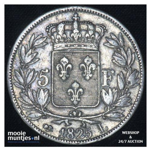 5 francs - France 1825 L (Bayonne) (KM 720.8) (kant A)