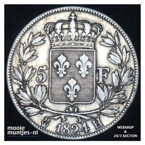 5 francs - France 1824 H (La Rochelle) (KM 711.5) (kant A)
