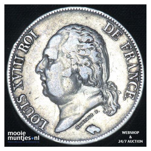 5 francs - France 1824 H (La Rochelle) (KM 711.5) (kant B)