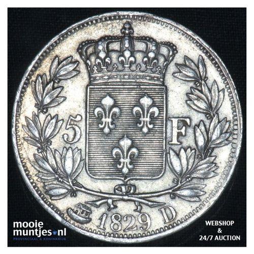 5 francs - France 1829 D (Lyon) (KM 728.8) (kant A)