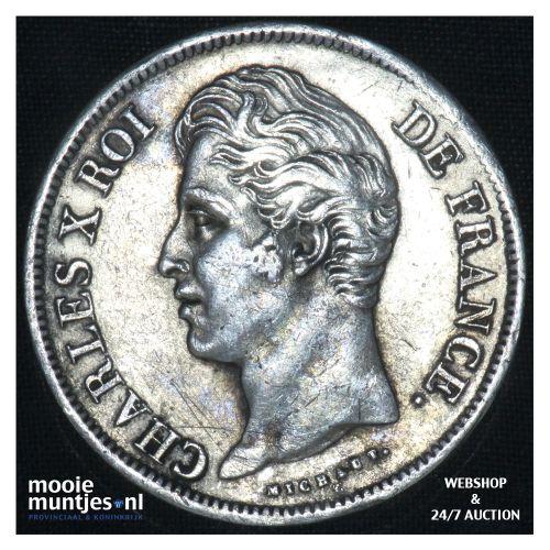 5 francs - France 1829 D (Lyon) (KM 728.8) (kant B)