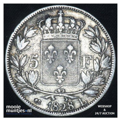 5 francs - France 1828 L (Bayonne) (KM 728.8) (kant A)