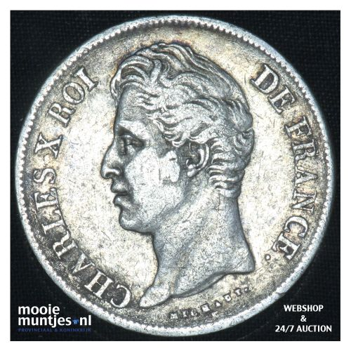 5 francs - France 1828 L (Bayonne) (KM 728.8) (kant B)