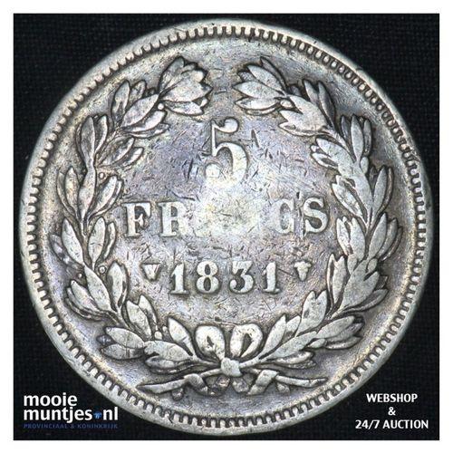 5 francs - France 1831 W (Lille) (KM 735.4) (kant A)